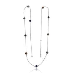 Necklace HOLI - Dark stones