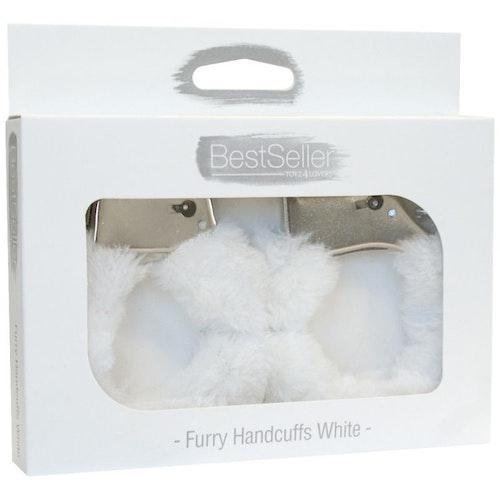 Handbojor med vit päls