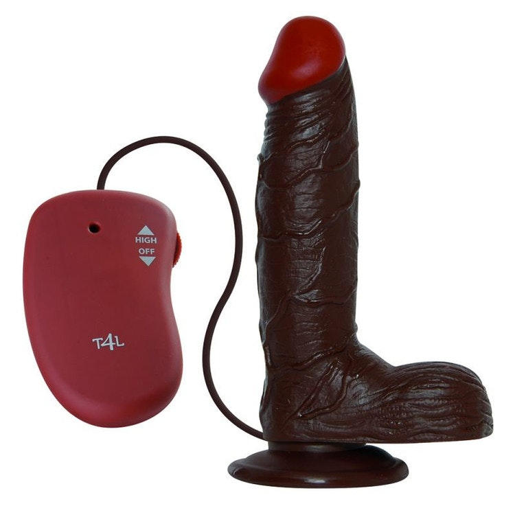 Realistisk svartfärgad penis