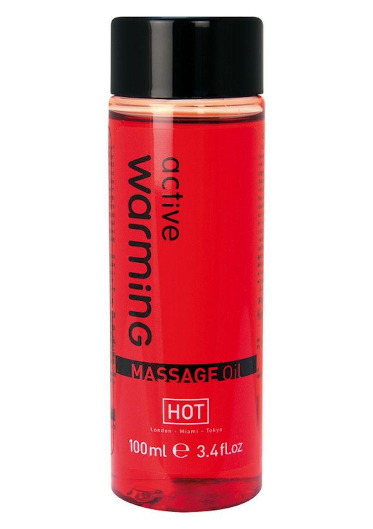 Värmande massageolja 100 ml