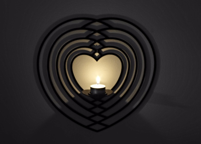 Väggljushållare Hjärta