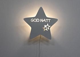 Godnatt-vägglampa Stjärna