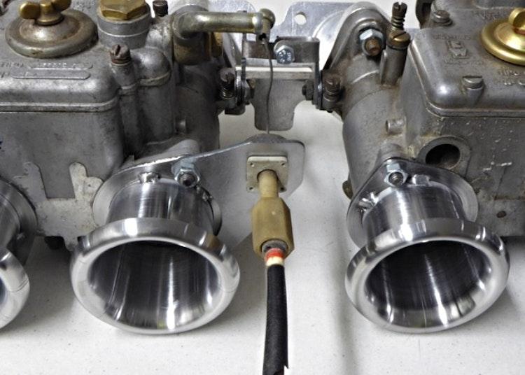 Exempelbild gasvajerfäste monterat på weber 45