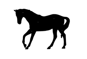 Fasaddekor Häst 2