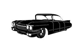 Cadillac -60 six window