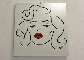 Skylt Marilyn Monroe