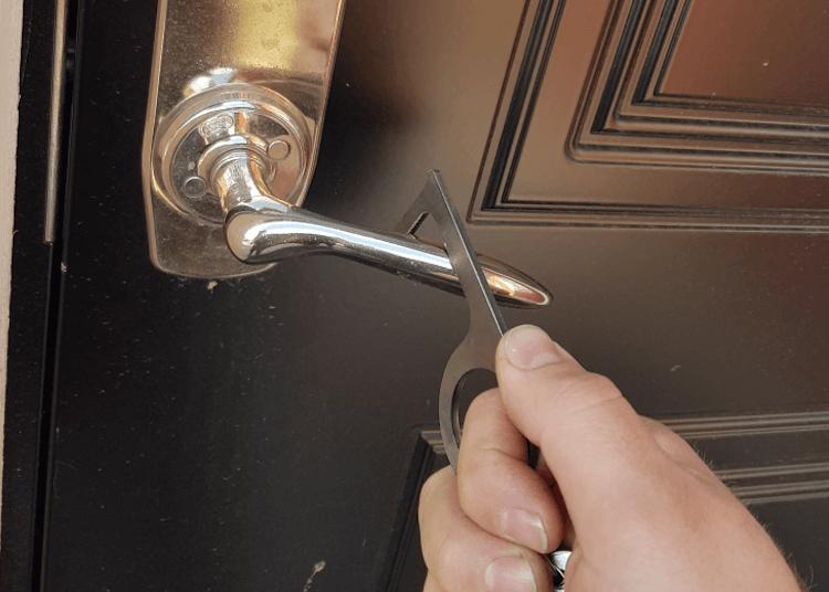 Dörrhandtag som öppnas med en Cleankey.