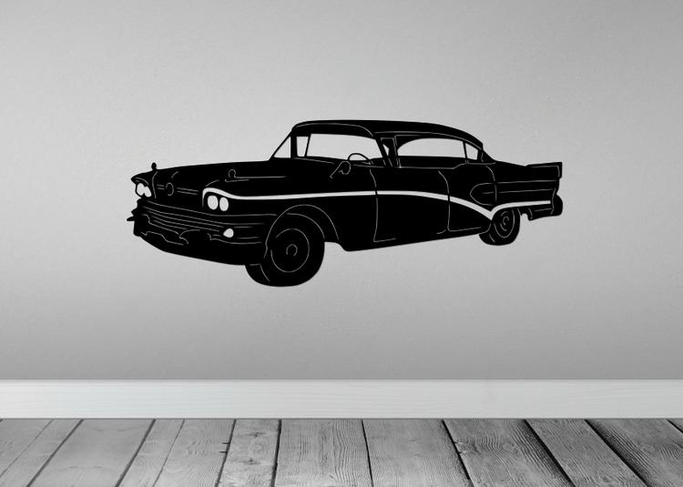 Väggdekoration av en Buick 1958.