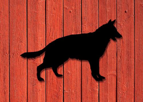 Fasaddekor Hund, Schäfer