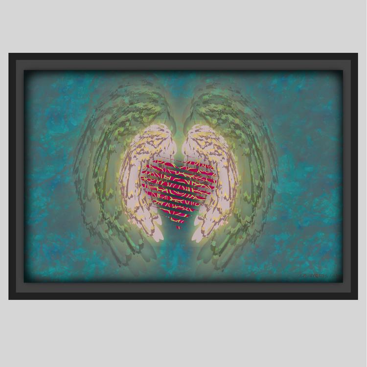 Wings & Heart, Lumina, Canvas tavla