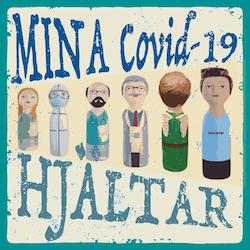 Huvtröja, Mina Covid-19 Hjältar, Mörk blå