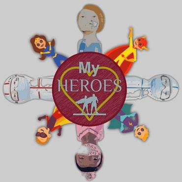 Huvtröja, My New Heroes, Kids Collection, Ljus Grå