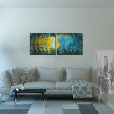 Wings & Heart, Lianis, Canvas tavlor(par)