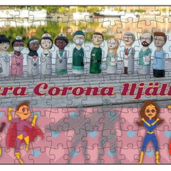 Fotopussel, 112 bitar, Våra Corona Hjältar, Motiv 1