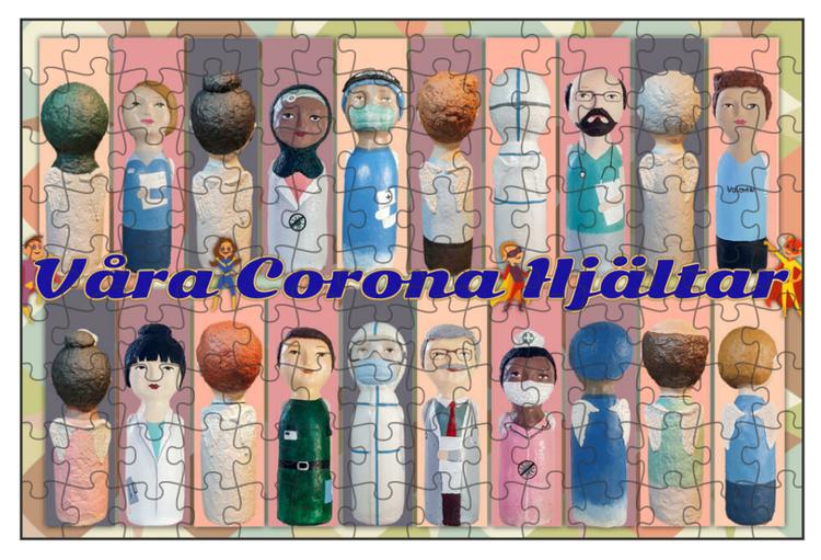 Fotopussel, 112 bitar, Våra Corona Hjältar, Motiv 2