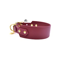 Classic Wine red Collar Wide S