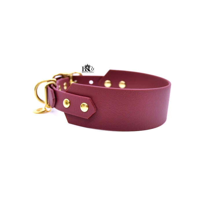 Classic Wine red Collar Wide XL