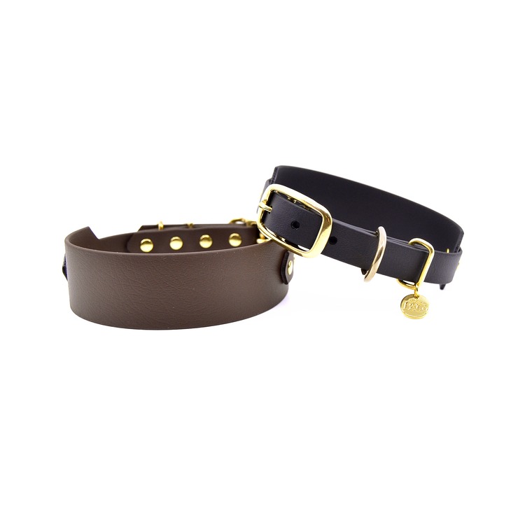 Classic Dark brown Collar Wide XL