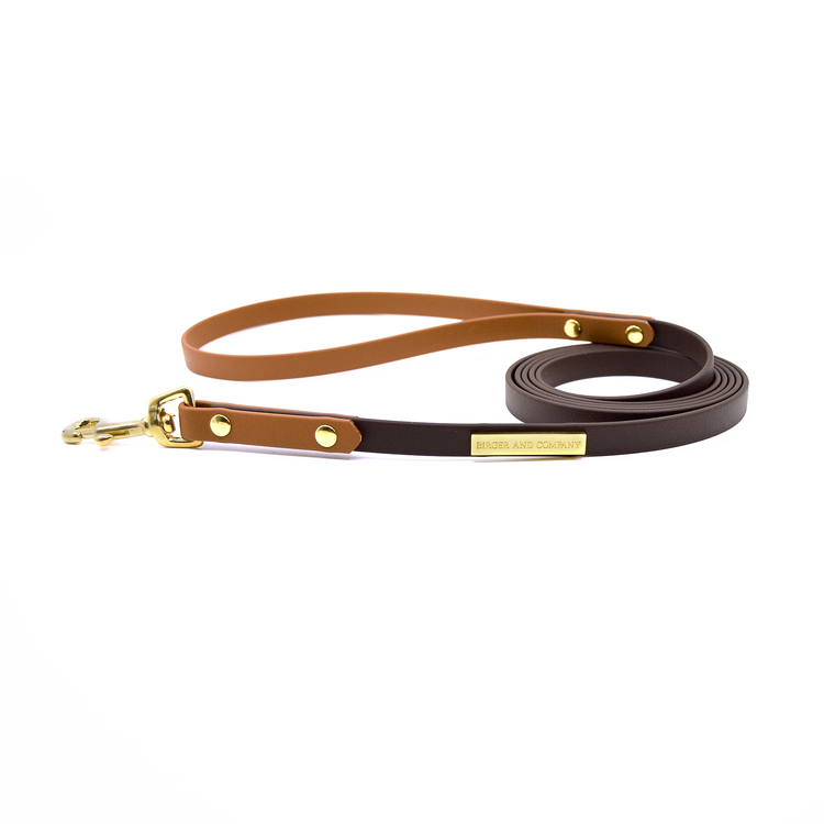 Classic Dark brown/Tan Leash 12 mm