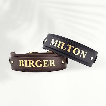 Classic Dark brown Collar Wide M