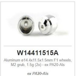 Slot.it - F1 Wheels Alu - ø14.4x11.5x1.5mm - Light Hubs 1,5g (x2)