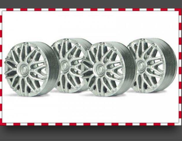 Slot.it - Plastinsats BBS Style - Silver (4x)