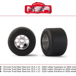 NSR - 3/32 FORMULA NSR TRUED REAR RACE TIRE 19,5x13 ULTRAGRIP (2)