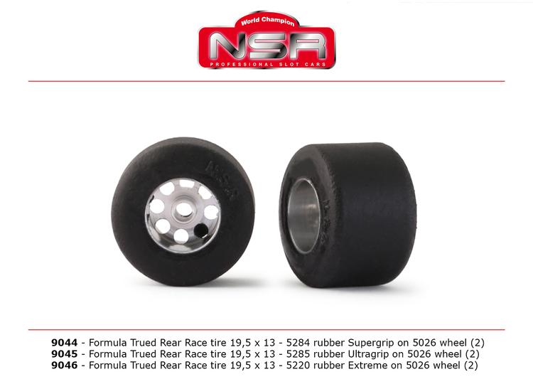 NSR - 3/32 FORMULA NSR TRUED REAR RACE TIRE 19,5x13 EXTREME (2)