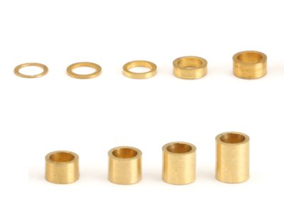 """NSR - 3/32"""" axle brass spacers -  .020"""" / 0,50 mm (10x)"""