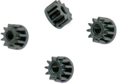 Scalextric W8200 - Sidewinder motor pinions black plastic 11 tooth (4x)