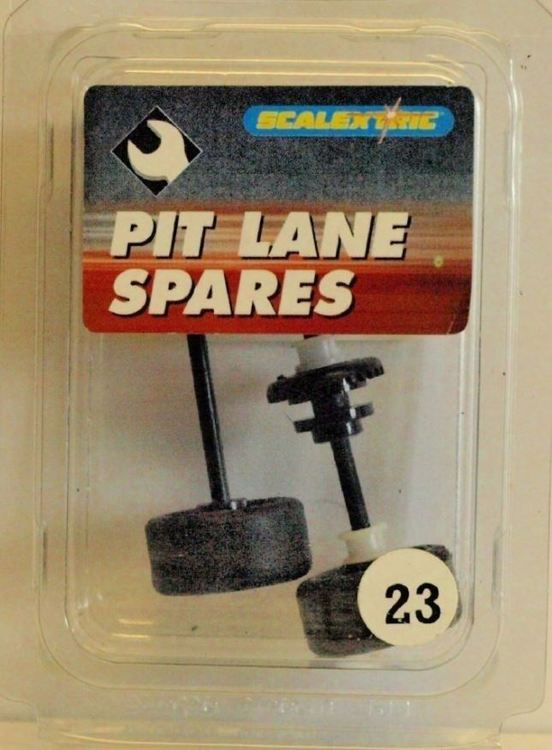Scalextric C8093 - Axle Set front & rear - Mercedes Silver hubs (New Old Stock - NOS)
