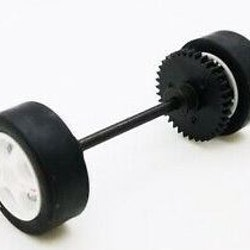 Scalextric W9019 - rear axle assembly - Skoda Fabia C2486, C2486A, C2487, C2487A