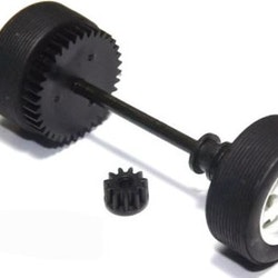 Scalextric W8696 - Rear axle assembly incl bushing gear and pinion - Mini Cooper (New Old Stock - NOS)