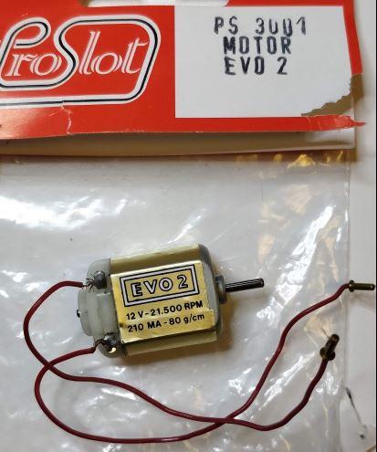 Proslot - Motor EVO2 21500 rpm 12V - 80g/cm (NOS - New Old Stock)