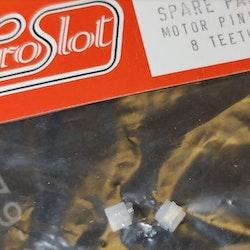 Proslot - Motor pinion - 8 teeth (NOS - New Old Stock)