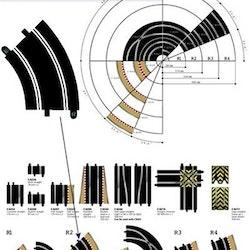 Scalextric Sport - Standard Curve - Radie 2 - 45 degrees (x2)
