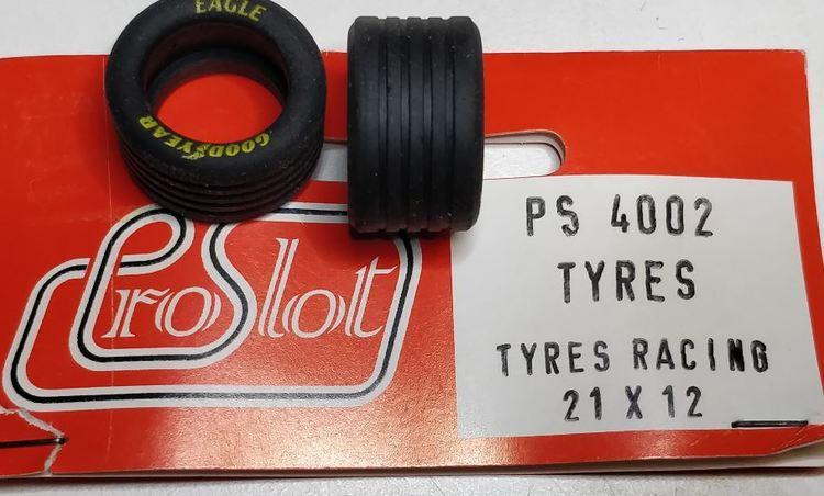 Proslot - Tyres Racing 21 x 12  (NOS - New Old Stock) 4 pcs