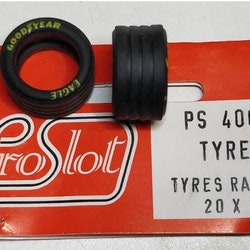Proslot - Tyres Racing 20 x 11  (NOS - New Old Stock) 4 pcs