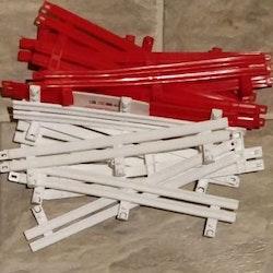 Ninco - staket Röda/Vita - begagnade (10 röda / 9 vita)