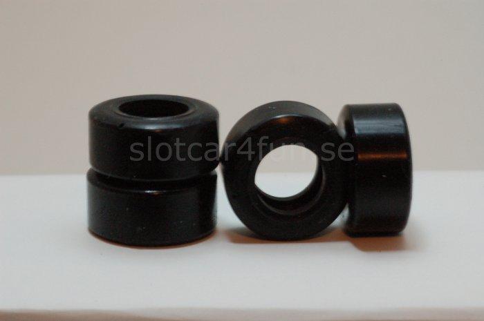 MJK - Tyre / Däck 20,8 x 9,6 for Scalextric Camaro/Mustang (4x)