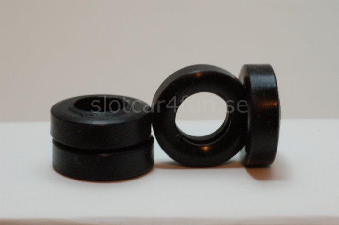 MJK - Tyre / Däck 22,8 x 6,6 mm  for Scalextric Vintage (4x)
