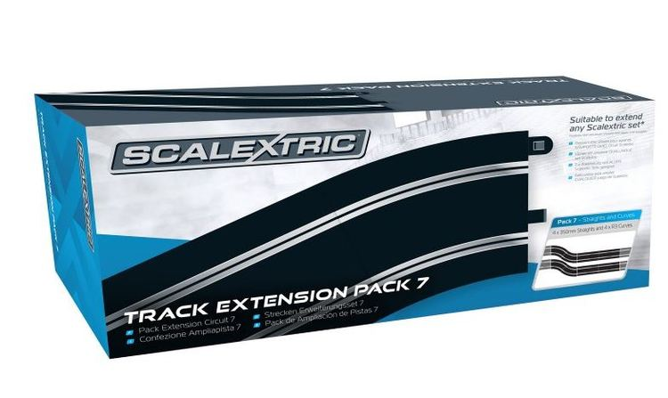 Scalextric - Track Extension Pack 7 (4 rakor + 4 R3 kurvor)