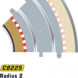 Scalextric Sport - Borders / Sladdzon R2 Inner (45 degr.) (x4)