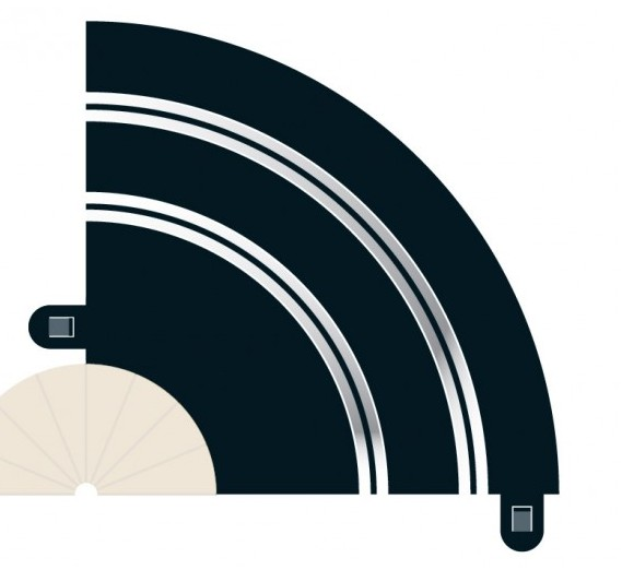 Scalextric - Hairpin curve R1 (x2)