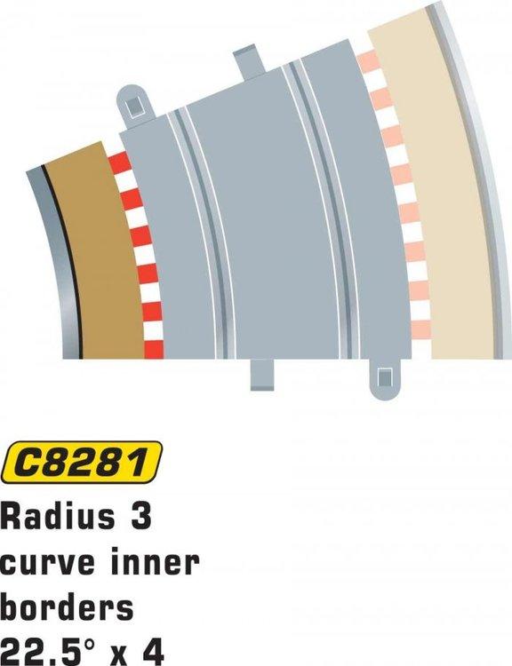 Scalextric Sport - Borders / Sladdzon R3 inner (22.5 degr) (x4)