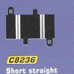 Scalextric - Short Straight 1/4  (L = 78 mm) (2x)