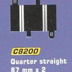 Scalextric - Straight 1/4  (L = 87 mm) (2x)