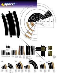 Scalextric - Curve R4 (22,5 degrees)  (2x)
