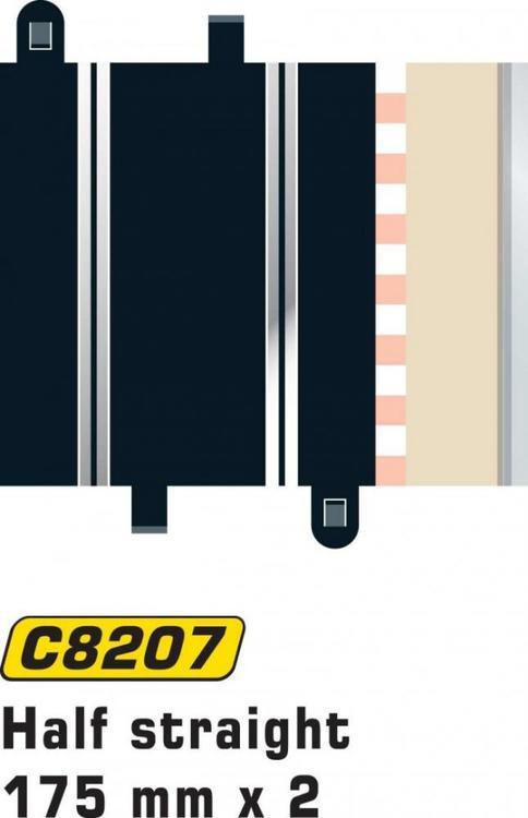 Scalextric Sport - Half straight L = 175 mm (2x)