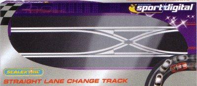 Scalextric - Straight Lane Change Digital / Rak spårbytesskena för Digital (1x)